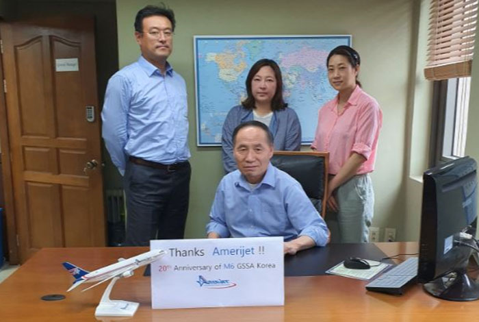 Amerijet celebrates 20-year partnership with Dan Air in South Korea